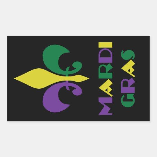 Mardi Gras ~ Fleur De Lis Rectangular Sticker