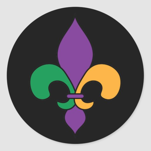 Mardi Gras Fleur De Lis Stickers Zazzle