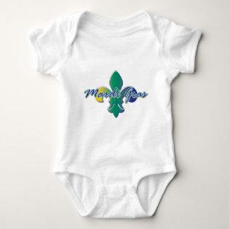Mardi Gras Fleur de lis tri Baby Bodysuit