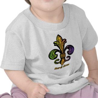 Mardi Gras Fleur de lis T Shirts