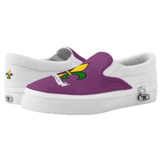 Mardi Gras fleur-de-lys Slip-On Sneakers
