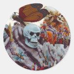 Mardi Gras Float Classic Round Sticker