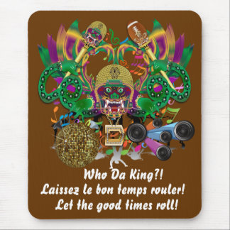 Mardi Gras Football Dragon King view notes Please Mouse Pad