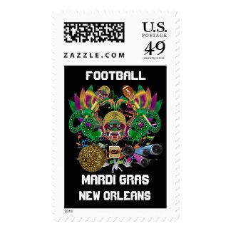 Mardi Gras Football Dragon King view notes Please Stamp