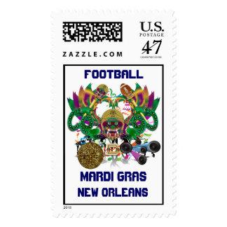 Mardi Gras Football Dragon King view notes Please Postage Stamp