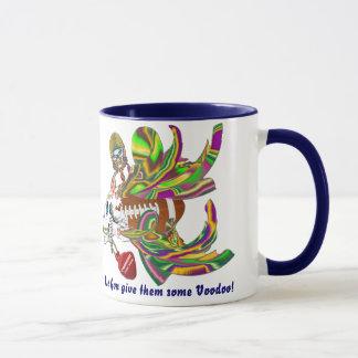 Mardi Gras Football Dual Design View Notes Plse Mug