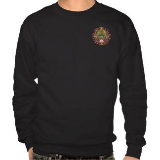 Mardi Gras & Football Dual Design view notes Plse Pull Over Sweatshirts