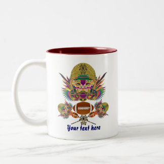Mardi Gras Football think it's to early view notes Two-Tone Coffee Mug
