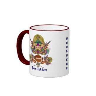 Mardi Gras Football think it's to early view notes Ringer Coffee Mug