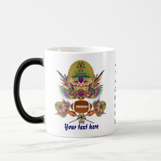Mardi Gras Football think it's to early view notes 11 Oz Magic Heat Color-Changing Coffee Mug