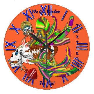 Mardi Gras Football Voodoo Skelly View Notes Plse Clock