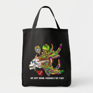 Mardi Gras Football Voodoo Skelly View Notes Plse Grocery Tote Bag
