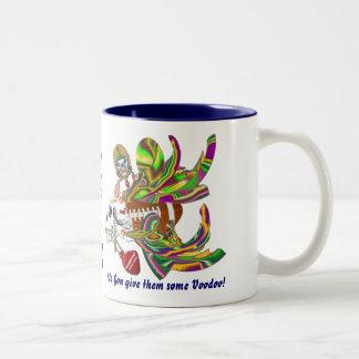 Mardi Gras Football Voodoo Skelly View Notes Plse Two-Tone Coffee Mug