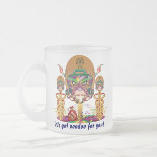 Mardi Gras Football We got voodoo for you Frosted Glass Coffee Mug