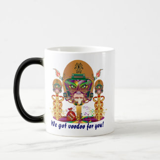 Mardi Gras Football We got voodoo for you 11 Oz Magic Heat Color-Changing Coffee Mug