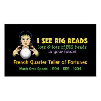 Mardi Gras Fortune Teller Business Cards