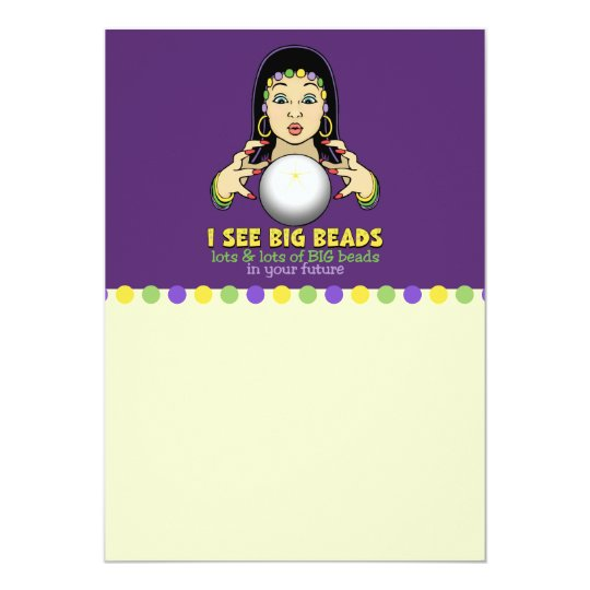 Mardi Gras Fortune Teller Card
