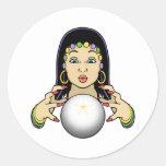 Mardi Gras Fortune Teller Classic Round Sticker