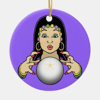 Mardi Gras Fortune Teller Christmas Tree Ornament