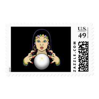 Mardi Gras Fortune Teller Stamp