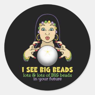 Mardi Gras Fortune Teller Round Stickers