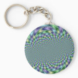 Mardi Gras - Fractal Keychain