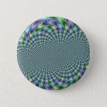 Mardi Gras - Fractal Pinback Button