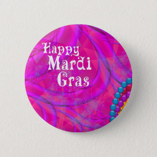 Mardi Gras Fractals Button