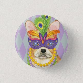 Mardi Gras Frenchie Button