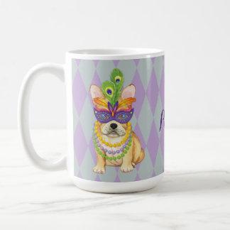 Mardi Gras Frenchie Coffee Mug