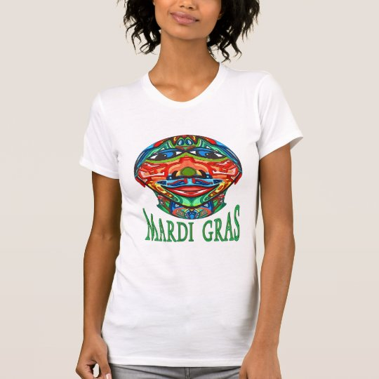 Mardi Gras Frog Face Mask T-Shirt