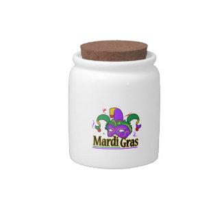 MARDI GRAS FULL CHEST CANDY JAR
