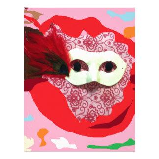 Mardi Gras Fun Abstract Art Letterhead