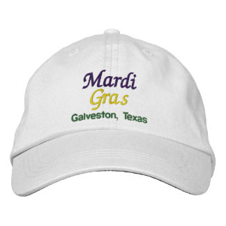 Mardi Gras Galveston Texas Embroidered Baseball Hat