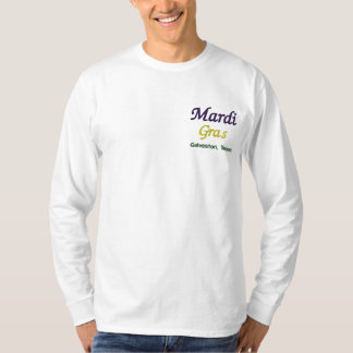 Mardi Gras Galveston Texas Embroidered Long Sleeve T-Shirt