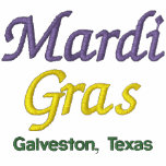 Mardi Gras Galveston Texas Embroidered Jacket
