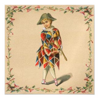 Mardi Gras Girl Card