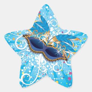 Mardi Gras glasses Star Sticker