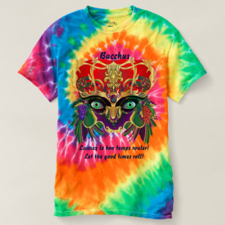 Mardi Gras God of Wine Mens view notes below T-shirt