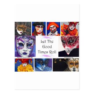 Mardi Gras Good Times  Postcard