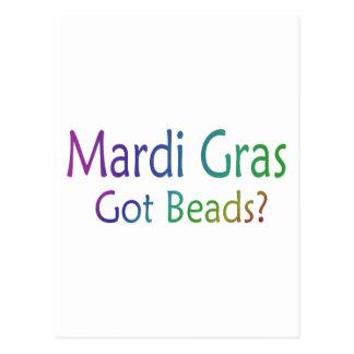 Mardi Gras Got Beads Postcard
