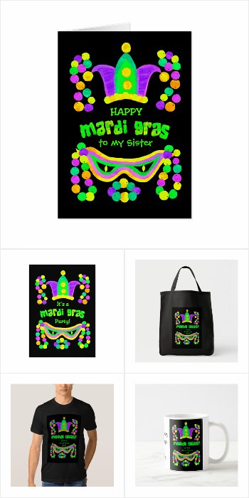 Mardi Gras Greeting Cards and Gifts