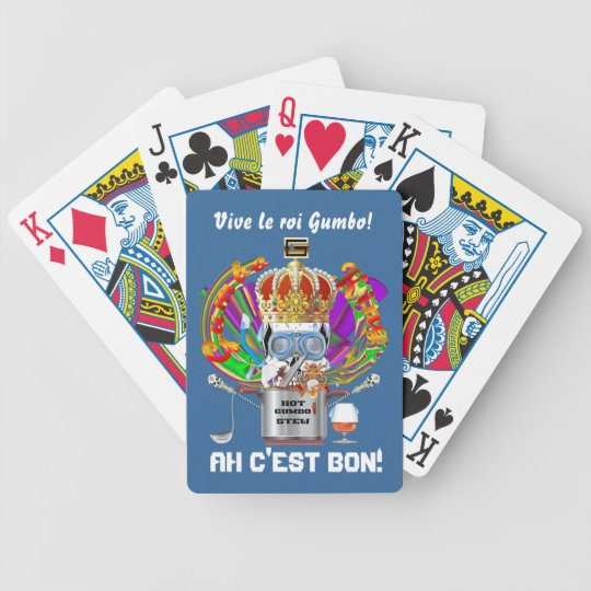 Mardi Gras Gumbo King View Hints please Bicycle Playing Cards