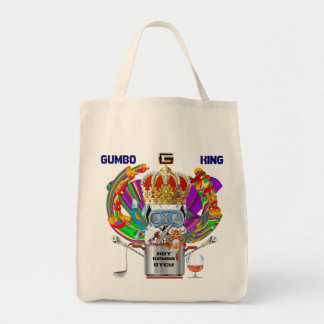 Mardi Gras Gumbo King View Hints please Tote Bag