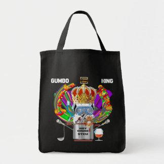 Mardi Gras Gumbo King View Hints please Tote Bag