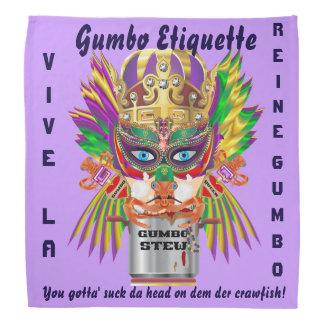 Mardi Gras Gumbo Queen Read About Design Bandana