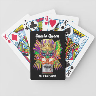 Mardi Gras Gumbo Queen View Hints please Bicycle Playing Cards