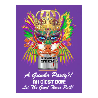 Mardi Gras Gumbo Queen View Hints please Card