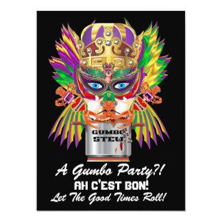 Mardi Gras Gumbo Queen View Hints please Card