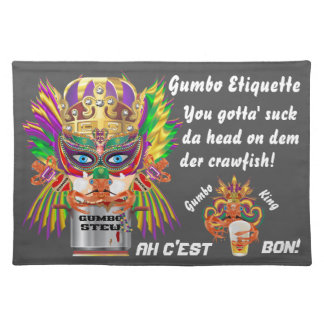 Mardi Gras Gumbo Queen View Hints please Cloth Place Mat